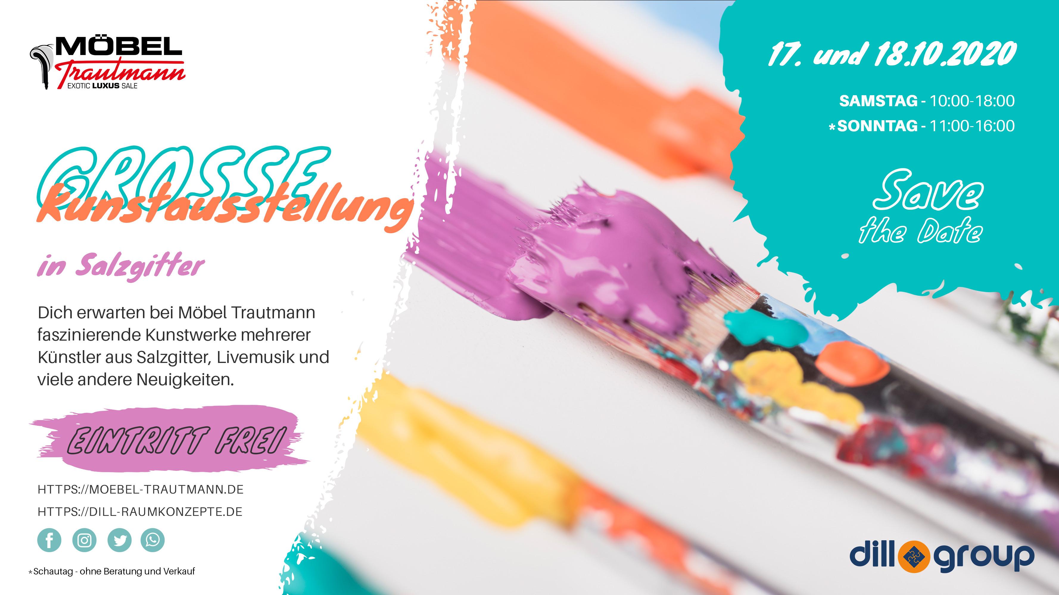 Kunstausstellung bei Möbel Trautmann in Salzgitter